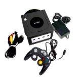 Nintendo Gamecube Console Bundle - Lengend of Zelda Collector's Edition - Jet Black: Extra Controller Indigo, Bonus Disc Carrying Case.