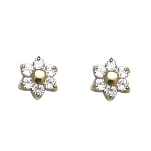 14K Flower Baby Earrings