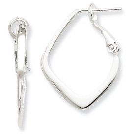 Genuine IceCarats Designer Jewelry Gift Sterling Silver Clip Back Earrings