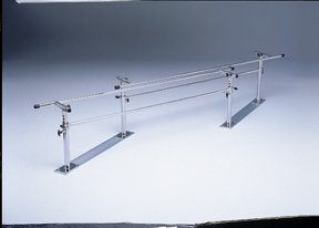Folding Height/Width Adjustable Parallel Bars, 10' Adult, Steel Base