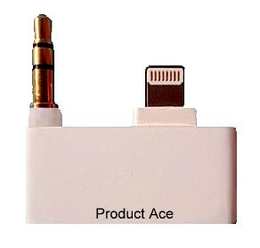 Product Ace(Tm) Brand Compatible Iphone 5/5S/5C Adapter For Use With Iphone 4 Home Docking System With Music 3.5Mm Adapter 8 Pin To 30 Pin & Includes Product Ace Cleaning Cloth!