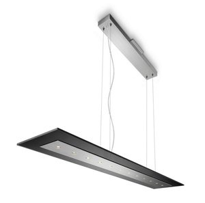 Philips 407431148 Matrix - Led Pendant, Brushed Nickel Finish With Smokey Glass