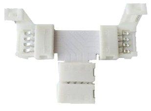 Miniwatts 10 X 4 Pin Pcb T Shape Connector For 5050 Rgb Led Strip (10Mm)