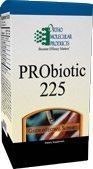 Ortho Molecular Products - PRObiotic 225 - 15-3 Gr Packets