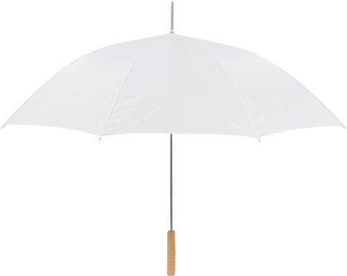 Trademark Innovations Anderson Auto Open Wedding Umbrella, 60-Inch, White