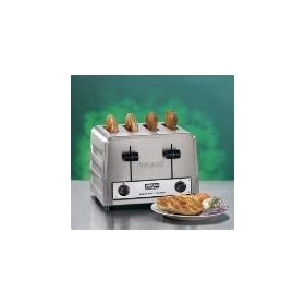 Heavy Duty Toaster, 4-Combination Slots, Brushed Chrome Steel