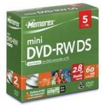 Memorex Mini DVD-RW DS 2.8GB 2x Slim Jewel Case (5 pack)