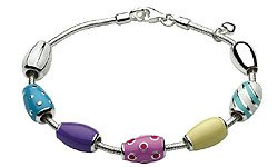 Children's Jewelry - 6 3/4 Inch Sterling Silver Pebble Beads Bracelet