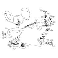 Manual Toilet Spare Parts (2008 And Later) Service Kit (2008 & Newer)