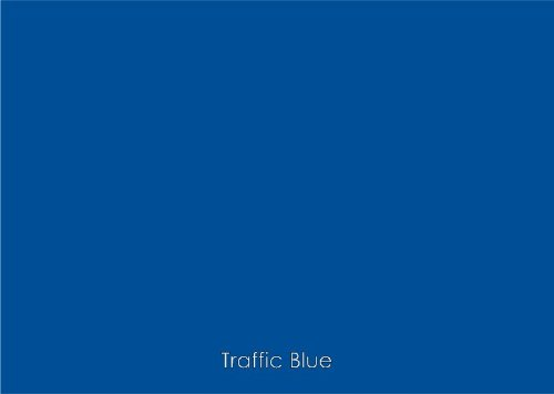 "12"" X 10 Ft Roll Of Matte Oracal 631 Traffic Blue Repositionable Adhesive-Backed Vinyl For Craft Cutters, Punches And Vinyl Sign Cutters By Vinylxsticker front-889232"