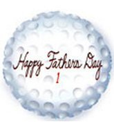 "Single Source Party Supplies - 18"" Happy Father's Day Golf Ball Mylar Foil Ballon"