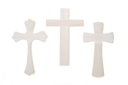 Darice 9180-34 Unfinished Wooden Wall Cross(Style may vary)