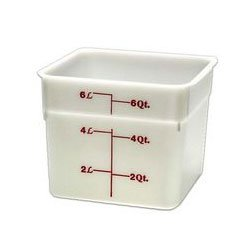 Camwear Camsquare Poly White Food Storage Containers, 6 Quarts (6SFSP) Category: Food Boxes -Polycarb