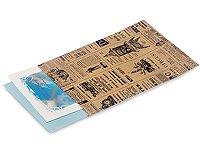 50 Vintage Printed Paper Kraft Bags 6x8