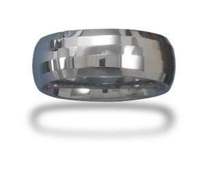 Tungsten Carbide Beveled Cut Men's Ring / Size 10