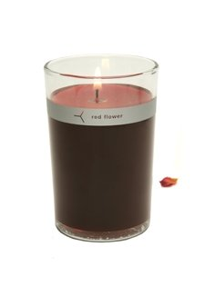 Red Flower Moroccan Rose Petal Topped Candle-6 Oz.