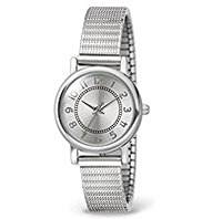 M&S Collection Round Face Analogue Etched Expander Watch