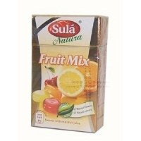 THREE PACKS of Sula Natura Sugar Free Fruit Mix Sweets with Real Fruit Juice