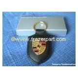 Porsche Crest Key Ring - Black