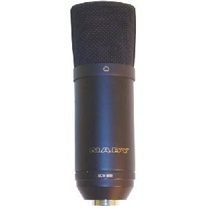 Nady Scm 800 Condenser Microphone. Nady Cardioid Studio Condenser Mic Promic. Electret - 30Hz To 20Khz - Cable