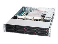 Supermicro 1200 Watt 2U Rackmount Server Chassis (CSE-826TQ-R500LPB)