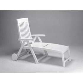 ACHILLE Multi-Position Resin Sunbed - White
