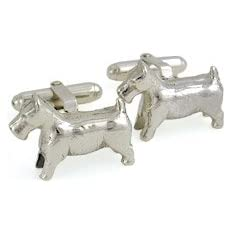 Monopoly jewelry: dog cufflinks!