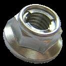 Bolt MC Hardware Hex Head Flange Fuji Style Metal Locking Nuts M8 x 1.25 12mm 021-30812