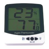 General Tools DTH03A Digital Temperature and Humidity Monitor with Jumbo Display - 1