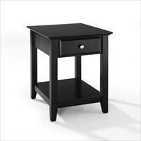 Cheap Modern Marketing CF1301-BK End Table With Storage Drawer in Black Finish (CF1301-BK)