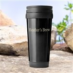 Personalized Black On-the-Go Travel Tumbler