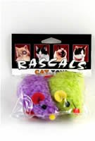 Coastal Rascals Cat Toy Wooly Mouse 2 Pack