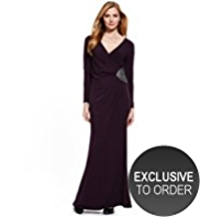 M&S Collection Side Bead Embellished Wrap Maxi Dress