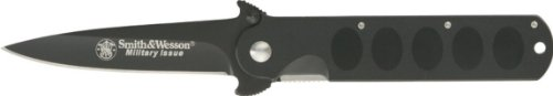 Smith & Wesson Swmi Military Issue Spear Point Knife, Black
