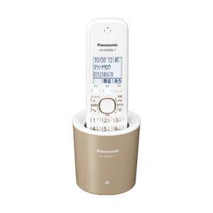 Panasonic コードレス電話機(充電台付親機および子機1台) モカ VE-GDS01DL-T