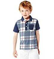 Autograph Pure Cotton Checked Polo Shirt