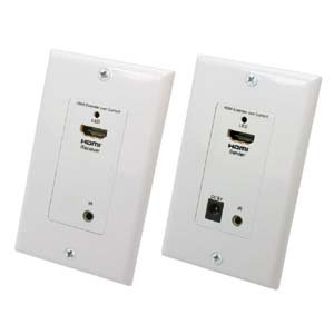 Installerparts HDMI/Remote Control IR Extender Wall Plate 1080p, 150Ft (50m)