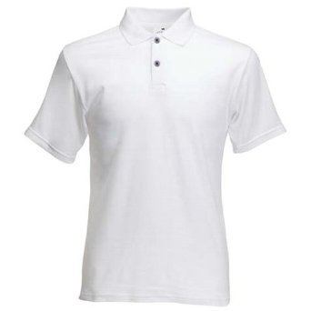 Fruit Of The Loom Mens Screen Stars Original Short Sleeve Polo Shirt (3XL) (White)