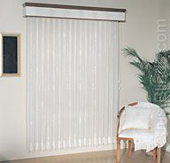 "3 1/2"" Sheer 72"" x 84"", Fabric Vertical Blinds by JustBlinds.com"