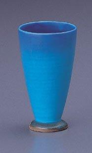 【4方向からの豊富な画像付】どこまでも蒼い大海原をイメージするカップですトルコマット・フリーカップ【美濃焼】