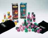 Stack - Giant Deluxe Dice game (56 1 inch dice in wt/bl/rd/yl)
