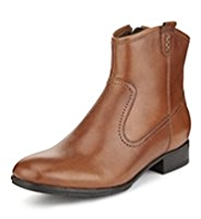 Footglove™ Leather Ankle High Boots