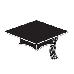 Mini Grad Cap Cutouts (black)    (10/Pkg)