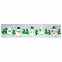Martha Stewart Crafts - Christmas - Border Stickers with Glitter Accents - Winter Wonderland