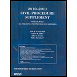 Civil Procedure 2010-2011: Supplement for Use With All Pleading and Procedure Casebooks (0314920218) by Friedenthal, Jack
