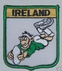 IRELAND RUGBY PLAYER FLAG WORLD EMBROIDERED PATCH BADGE