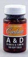Carlson Laboratories - A & D 25000 Iu/1000 Iu, , 100 Softgels