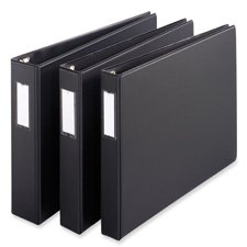 Cardinal Brands- Inc CRD12132 Slant-D Reference Binder- 3-Ring- 2in. Capacity- 11in.x17in.- BK
