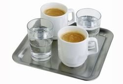Square Tray Stainless steel. Dimensions: 230(h) x 230(w) x 15(d)mm.