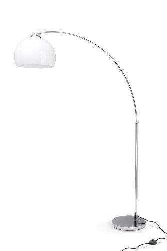 Brilliant Vessa 92940/75 - Lampada a stelo 1 x E27 max. 60 W, colore: Cromo/Bianco